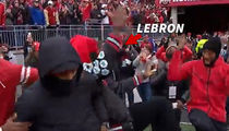 LeBron James -- Teammate Turn Up At OSU v. Michigan Game (VIDEO)