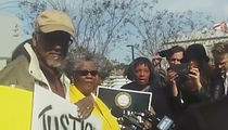 Joe McKnight -- NAACP Protesting Outside Sheriffs Dept. ... 'Demanding Answers' (PHOTO)