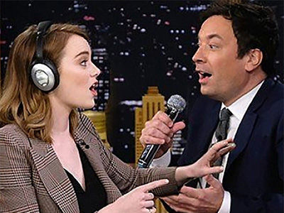 Things Get RAUNCHY During Jimmy Fallon & Emma Stone's HILARIOUS 'Whisper Challenge!'