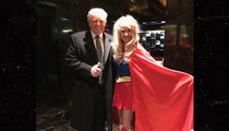 Donald Trump -- Costume Partying with Superwoman (Shhh! It's Kellyanne Conway)