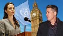 Angelina Jolie -- Angling for London Move with the Kids ... I Want to Be U.N. Secretary General