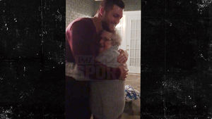 Tim Tebow -- BEST. FANGIRL. EVER. ... Kissed By 89-Year-Old Superfan