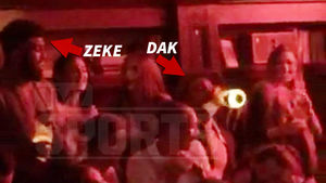 Ezekiel Elliott & Dak Prescott -- Monday Night Clubbin' ... Poppin' Bubbly While Cash Flies