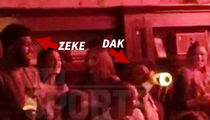 Ezekiel Elliott & Dak Prescott -- Monday Night Clubbin' ... Poppin' Bubbly, Throwin' Cash (Video)