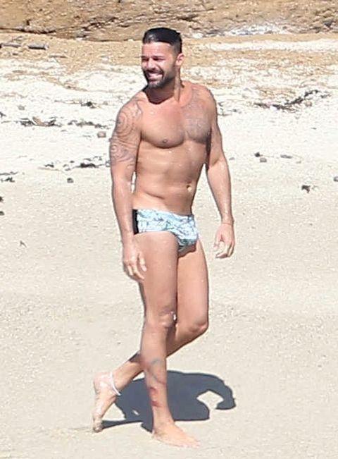 ricky martin nude beach photo