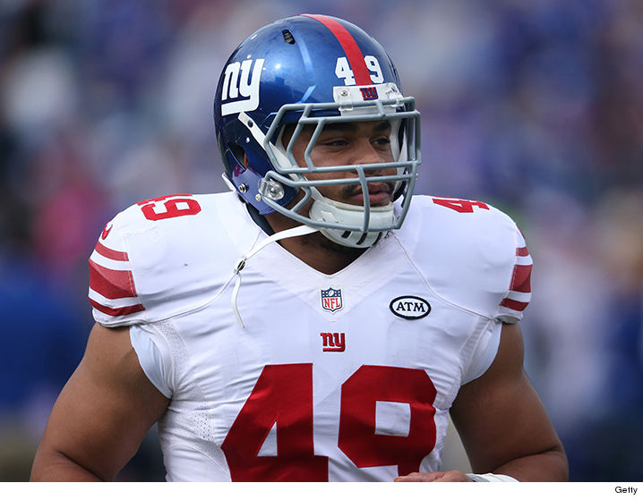 Nikita Whitlock In NY Giants Jersey