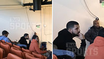 Drake -- Holds Court at Pepperdine ... Cheers for Hot Women's Basketball Twins