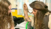 Johnny Depp Visits Kids Hospital as Jack Sparrow (PHOTO GALLERY)