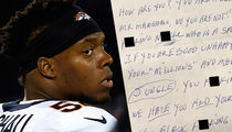 NFL's Brandon Marshall -- Reveals Racist Hate Mail ... Slurs & Violent Threats