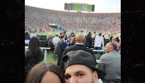 New Couple 'Jersey Shore' Ronnie and Malika Mugging at Rams Game (PHOTO)
