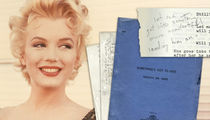Marilyn Monroe's Final Script Hauls in $25k (PHOTO GALLERY)