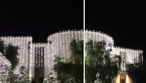 Check Out Kim and Kanye's INSANE Christmas Lights