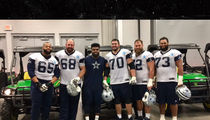 Ezekiel Elliott Buys Linemen $16k John Deere XTVs! (PHOTO + VIDEO)
