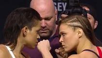 Ronda Rousey Faces Off with Amanda Nunes (VIDEO)