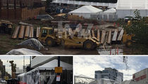 Golden Globes Prepares for Waterworld (PHOTOS)
