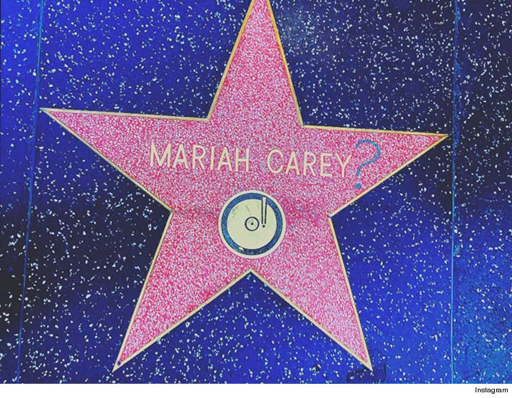Image result for mariah carey hollywood star vandalized