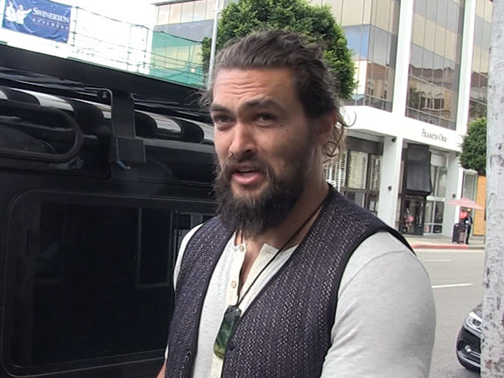Jason Momoa Says Aquaman Has Biggest Codpiece!!! (VIDEO)