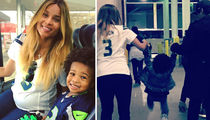 Ciara Fires Back at Future With Their Son Rockin' Seahawks Gear