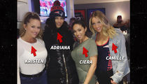 Adriana Lima Hit Patriots Game ... Joins Insanely Hot Group of Wives & GFs (Photos)