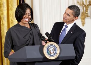 Barack Obama and Michelle Obama -- Together Pics