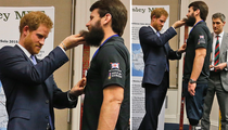 Prince Harry's Hairy Encounter with British Hero (PHOTO)