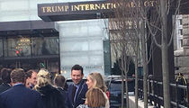 Tony Romo Surfaces at Trump Hotel In D.C. (Photos)