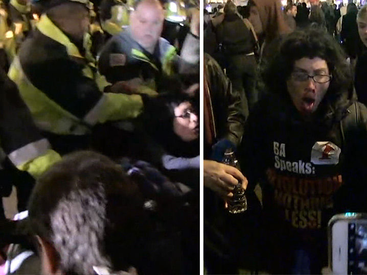 Pepper Spray Fired at Anti-Trump Rally in D.C. (LIVE STREAM)