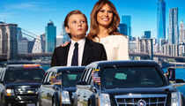 Melania Trump -- No Gridlock in NYC ... For Barron's School Rides