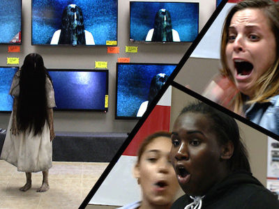 """Ring"" Prank Leaves Shoppers SCREAMING -- See Samara Scare Unsuspecting Customers!"