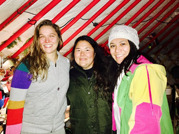 Ronda Rousey spotted at Standing Rock protests against Dakota Pipeline