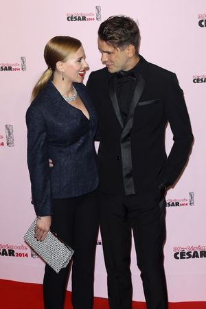 Scarlett Johansson and Romain Dauriac -- Together Pics