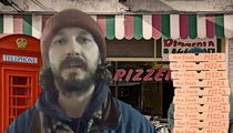 Shia LaBeouf's Trump Protesters Can't Get Pieceful with Pizza Joints