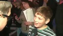 Drew Carey's Son Was That Mini-Bonfire Kid at Trump Protest (VIDEOS + PHOTO)