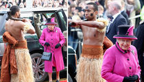 Queen Elizabeth Likey Likey Topless Dudes (PHOTO GALLERY)