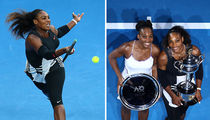 Serena Williams Beats Big Sister Venus for Record Win (PHOTO GALLERY)