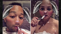 Chrissy Teigen & John Legend Buried in Sugar (VIDEO + PHOTO)