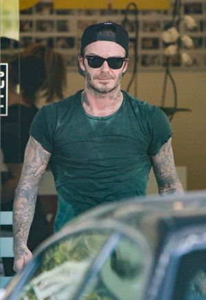 David Beckham -- Sweatin' Through