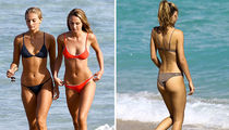 Models Selena Weber and Lauren Ashley Hit the Beach in Miami (PHOTO GALLERY)