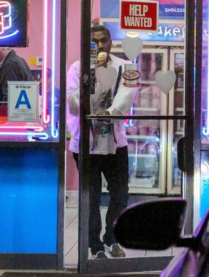 Kanye West Hits Baskin-Robbins After Date With Kim