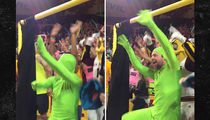 Charlie Day Joins ASU's Curtain of Distraction As Green Man From 'It's Always Sunny' (VIDEO)