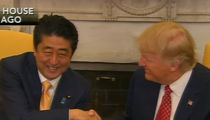 Donald Trump Gets Handsy with Japanese Prime Minister (VIDEO)