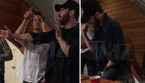 Chris Evans Parties Like a Bro After Split from Jenny Slate (VIDEO)