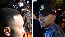 John Legend and Chance the Rapper Hit Up Massive Grammys Party (VIDEO)