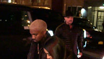 Kim Kardashian & Kanye West Nearly Cause Valentine's Stampede in NYC (VIDEO)