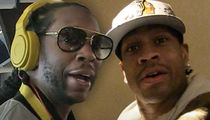 2 Chainz & Allen Iverson's Riders Littered with Top Shelf Booze!!