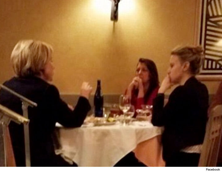 Clinton spotted dining with her 'SNL' counterpart, Kate McKinnon