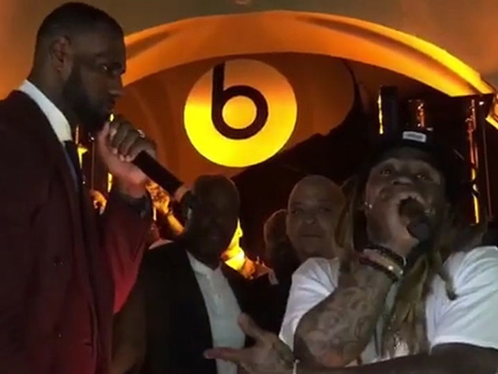Lil Wayne Dwarfs Birdman's Cash Money Party With LeBron's Assist!!!
