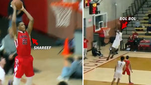Shareef O'Neal and Bol Bol Trade High-Flyin' Highlights In H.S. Basketball Match-up