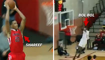 Shareef O'Neal and Bol Bol Trade High-Flyin' Highlights In H.S. Basketball Match-up (VIDEO)