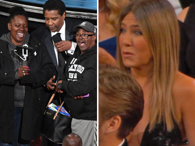 Tour Bus CRASHES the Oscars, Gets BEST Surprise EVER -- Denzel Wedding, Aniston Swag (Video)